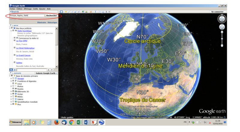 Géolocalisation google earth