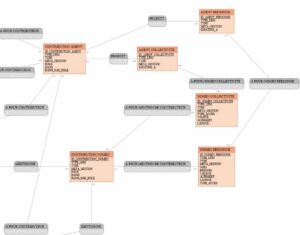 Focus sur le modèle conceptuel représentant les agents et leurs affiliations
